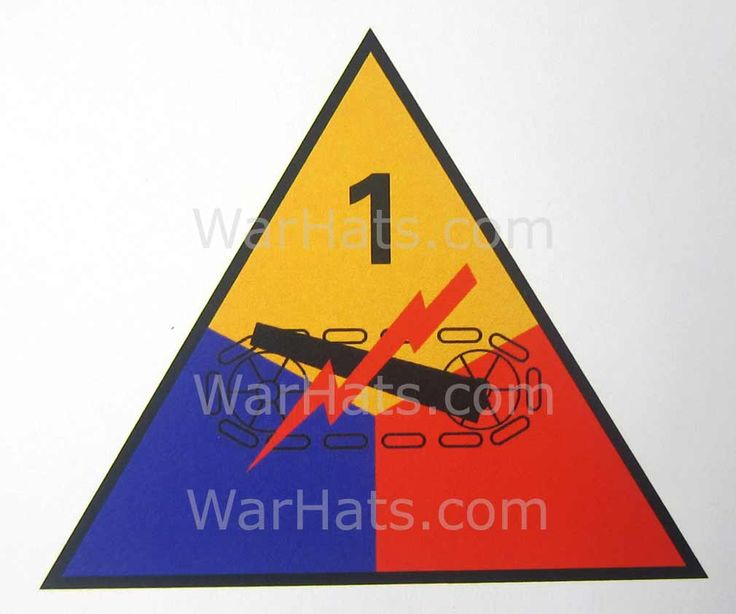 WWII M1 Helmet Decal USA Armoured Division Paper    This is a paper decal replicating those used on Armoured Division Helmets during WW2.  During WWII only paper and painted decals were used, after the war transfers were used.   www.warhats.com