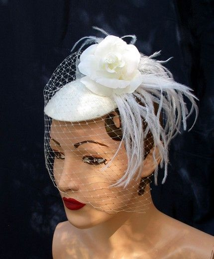 .: Vintage Woman, Women Hats, Google Search, Vintage Hats, 1940S Hats, Hats Beautiful, White Vintage, Wedding Hats, Beautiful Hats