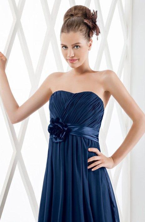 mariela - negozio online vestiti economici da cerimonia confezionato in chiffon,strascico a terra