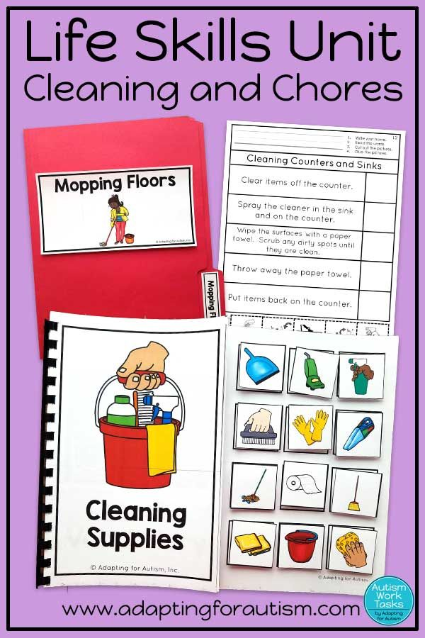 Life Skills Activities For Teaching Cleaning And Chores Life Skills Activities Teaching Life Skills Life Skills Classroom Autism life skills worksheets