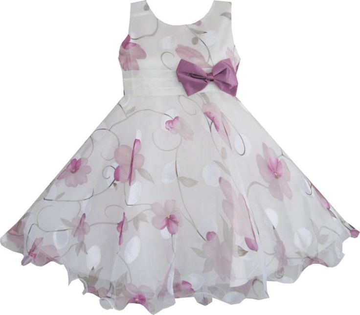 Find More Dresses Information about Girls Dress Purple Flower Bow Tie Wedding Party Children Clothes Size 3 8,High Quality clothes shelf,China clothes tube Suppliers, Cheap party table clothes from Sunny Fashion Boutique on Aliexpress.com