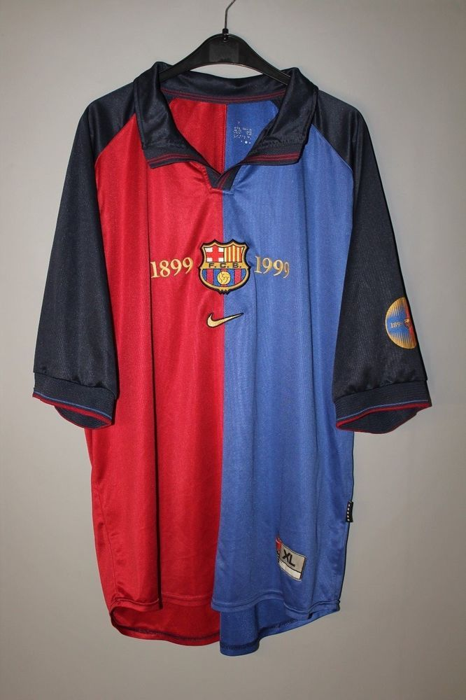 BARCELONA SPAIN 1999 2000 HOME CENTENARY FOOTBALL SHIRT JERSEY NIKE XL  ADULT (eBay Link) 8a771d08c526
