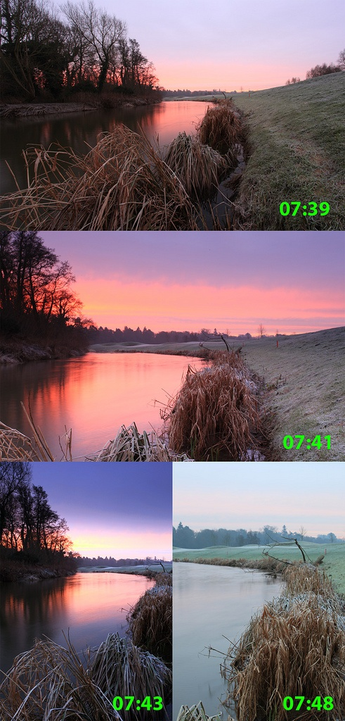 Example of how fast light changes during sunrise/sunset and the resulting mood