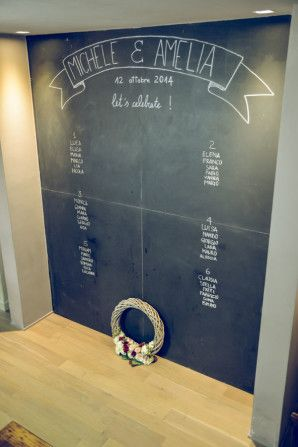 Chalkboard seating chart // photo by oui darling