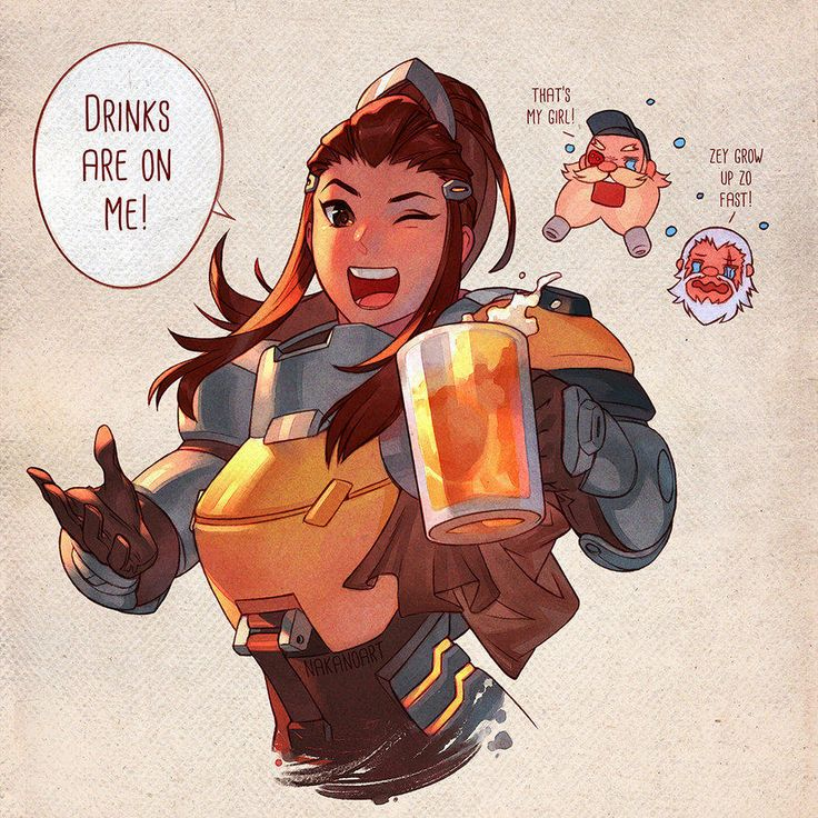 A Round of drinks, on Brigitte. | Overwatch | Know Your Meme