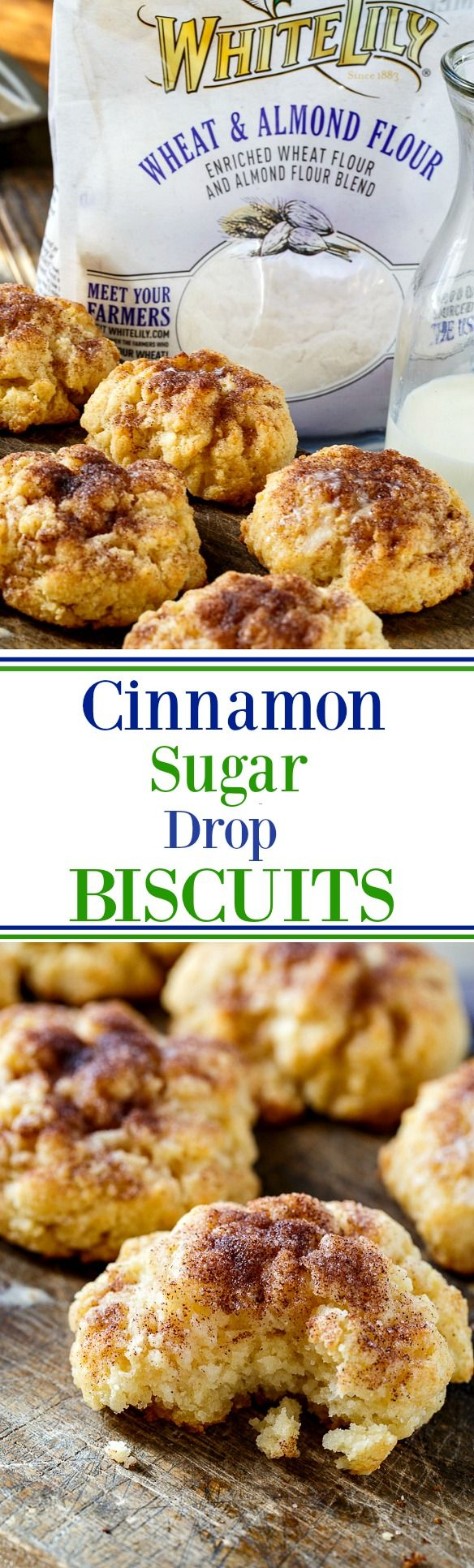 Cinnamon-Sugar Drop Biscuits are so tender and buttery!