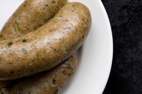 Boudin recipe, pork and rice Cajun sausage- I'd replace the jalapeños with cayenne pepper.