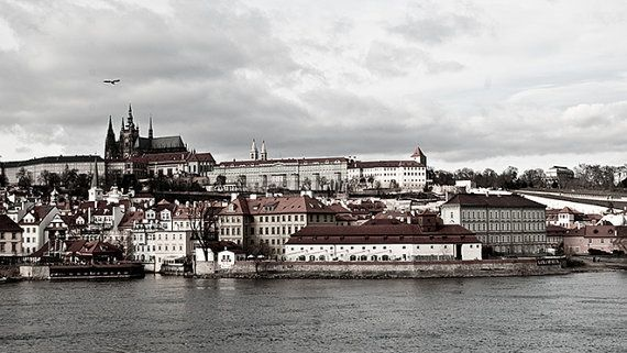 Prague landscape castle photo Panorama Prague towers by MagicSky, Kč199.00