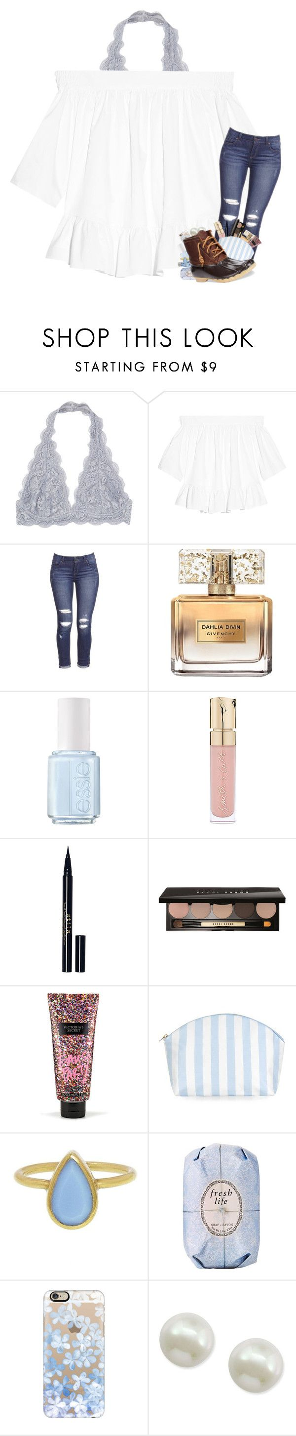 """- inhale courage   exhale fear -"" by kat-attack ❤ liked on Polyvore featuring Elizabeth and James, Givenchy, Essie, Smith & Cult, Stila, Bobbi Brown Cosmetics, Victoria's Secret, Catherine & Jean, Annette Ferdinandsen and Fresh"