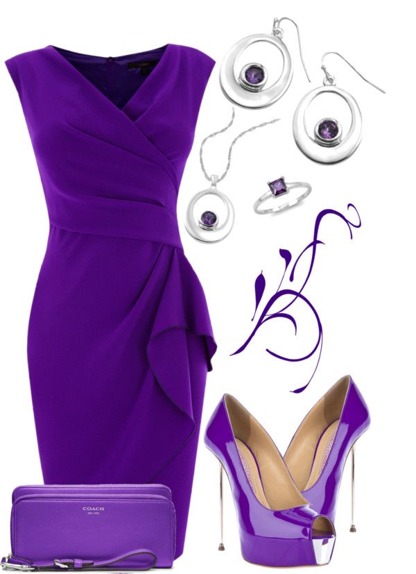 """""""Purple & Silver"""" by stay-at-home-mom on Polyvore"""