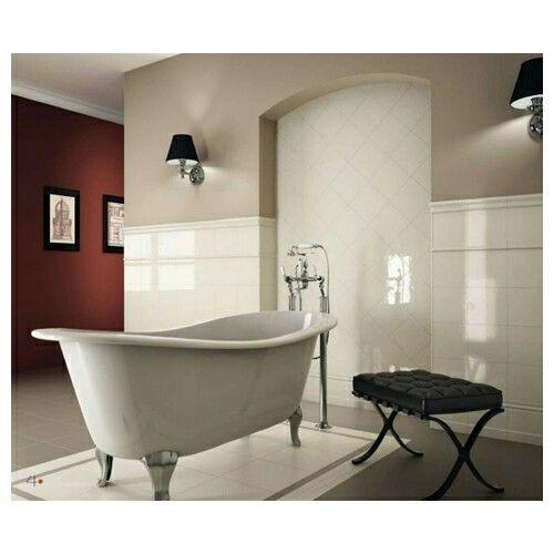 Badezimmer, Vintage Interieur, Elfenbein, Fliese