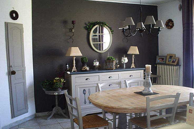 Salle a manger mur gris poivre homesweethome pinterest for Salle a manger mur gris