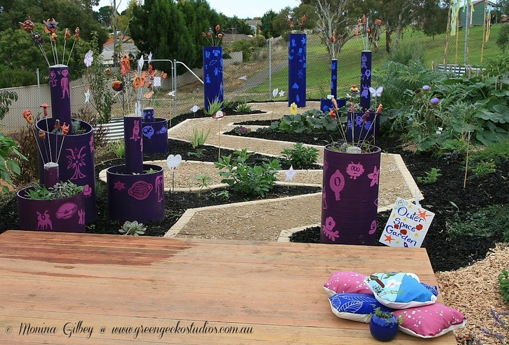 The outer space section of Woodend Primary School's (South Australia) Stephanie Alexander Kitchen Garden.