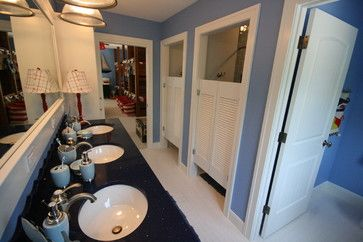 Perfect Idea for a kids bathroom - multiple showers