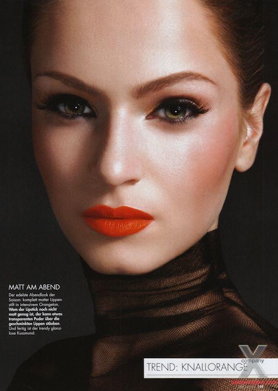 silvia-drevenakova-makeup: Eyeshadows Lipsticks, Eye Makeup, Orange Eyeshadows, Dark Orange, Makeup Eye, Orange Lipsticks, Beautiful Orange, Beautiful Lips, Beautiful Tricks
