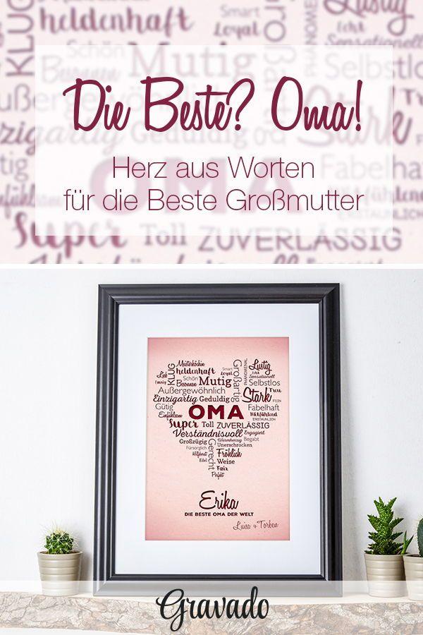 Wortherz Für Oma Als Personalisiertes Geschenk Zum Geburtstag Oder