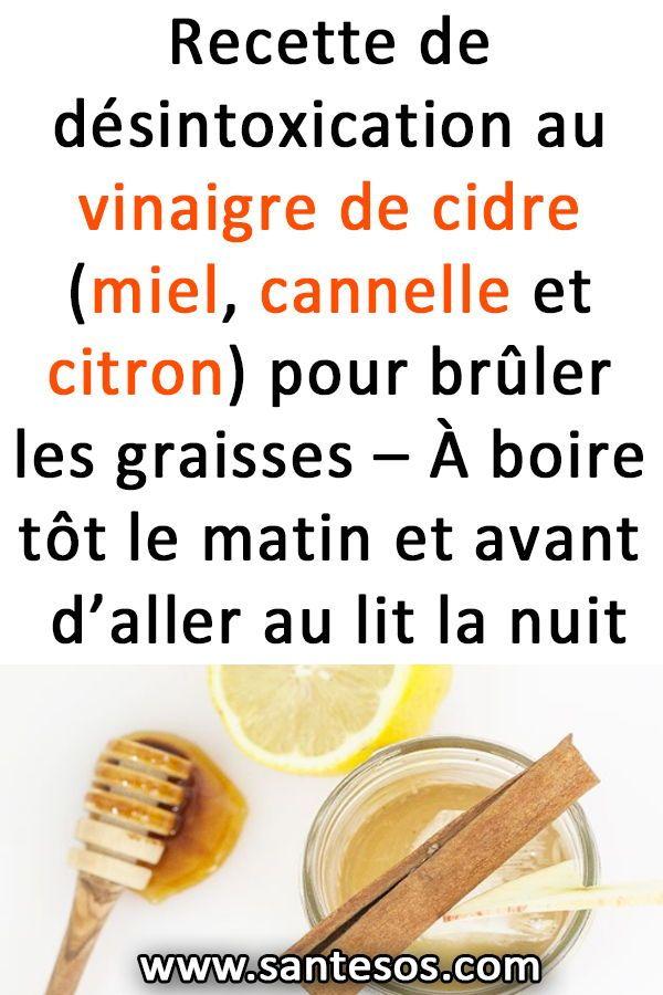 Recette de désintoxication au vinaigre de cidre (miel