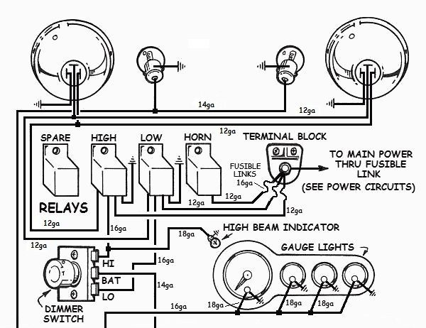 How To Wire Up Lights In Your Hotrod Simple Lighting Lights Wire Lights