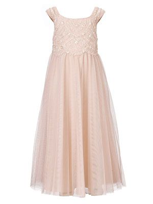 @Heather Cunnien I realllly like this dress, mostly for Madison, but all of their dresses can come in both girls sizes. We could have it hemmed to be just above or below the knee and add an extra layer of tulle!