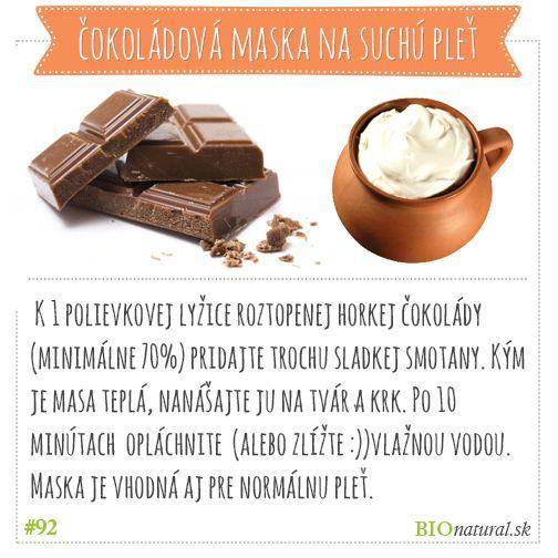 Suchá pleť? Vyrieši to domáca čokoládová maska #diy #vyrobsisama