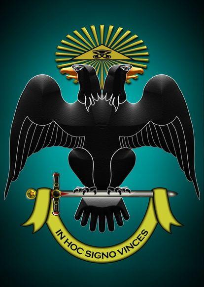 Pôster Águia Bicéfala - Simbologia: A águia bicéfala e representa o poder e a nobreza de grandes impérios.  É um símbolo iconográfico da cultura indo-europeia e mesoamericana, é usada em brasões de vários países em bandeiras, estandartes e escudos, como no Império Russo e o Império Bizantino.  Símbolo também utilizado por ordens iniciáticas, ele está ligado à Iniciação, representa o objetivo proposto pelas escolas de iniciação do presente ciclo que é o despertar da quintessência em seus...