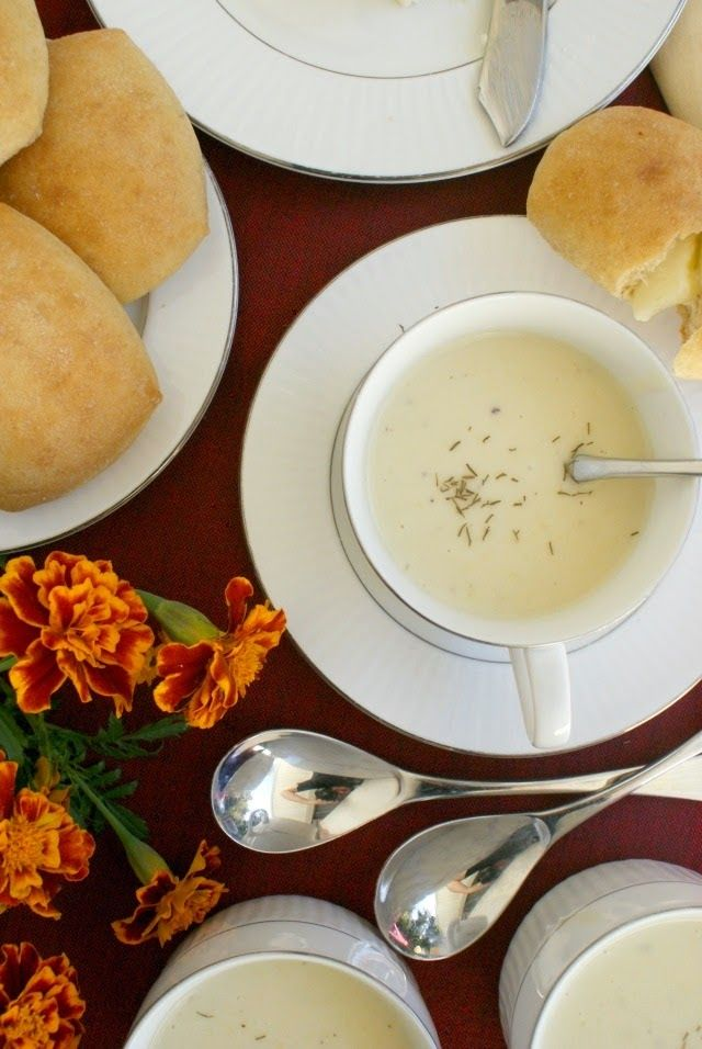 This post is sponsored by Sister Shubert's. A cup of Grandma's creamy velvety Leek Soup accompanied by Sister Shubert's Yeast Rolls is the perfect way to start your special occasion or holiday dinner.