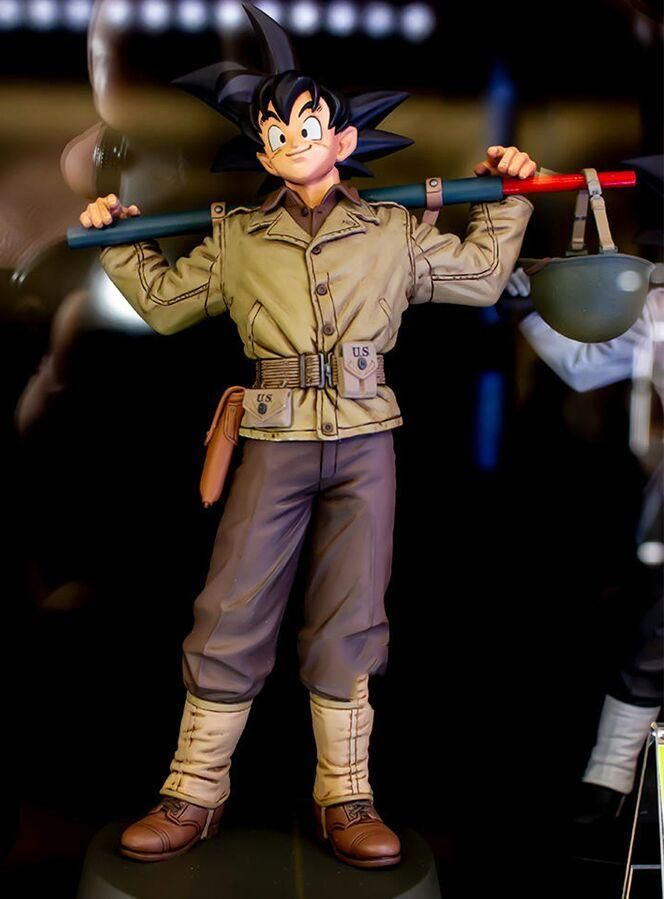 Original Banpresto Black Hair Son Goku Bwfc World Figure Colosseum Grand Prize Military Uniform Gokou Figur In 2021 Action Figure One Piece Banpresto Dragon Ball Super