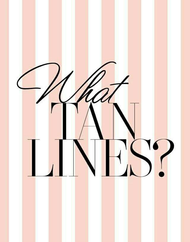 One of the benefits of a spray tan is that there aren't any tan lines...because who wants those?!!