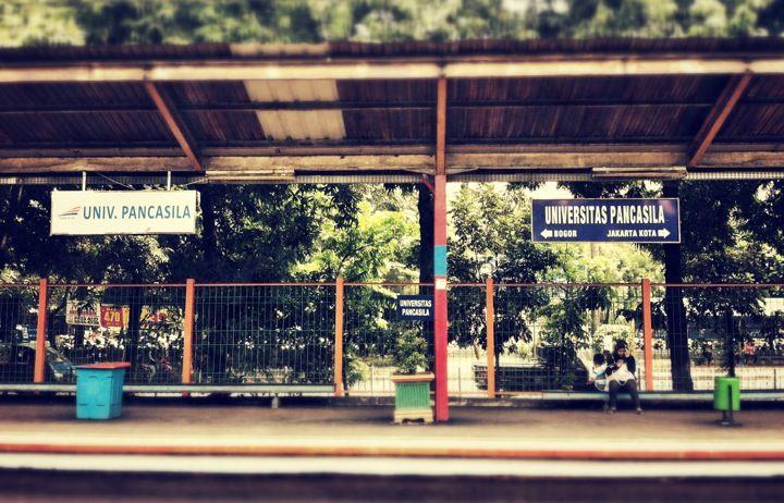 Train Station, Stasiun Univ.Pancasila, Jakarta Selatan