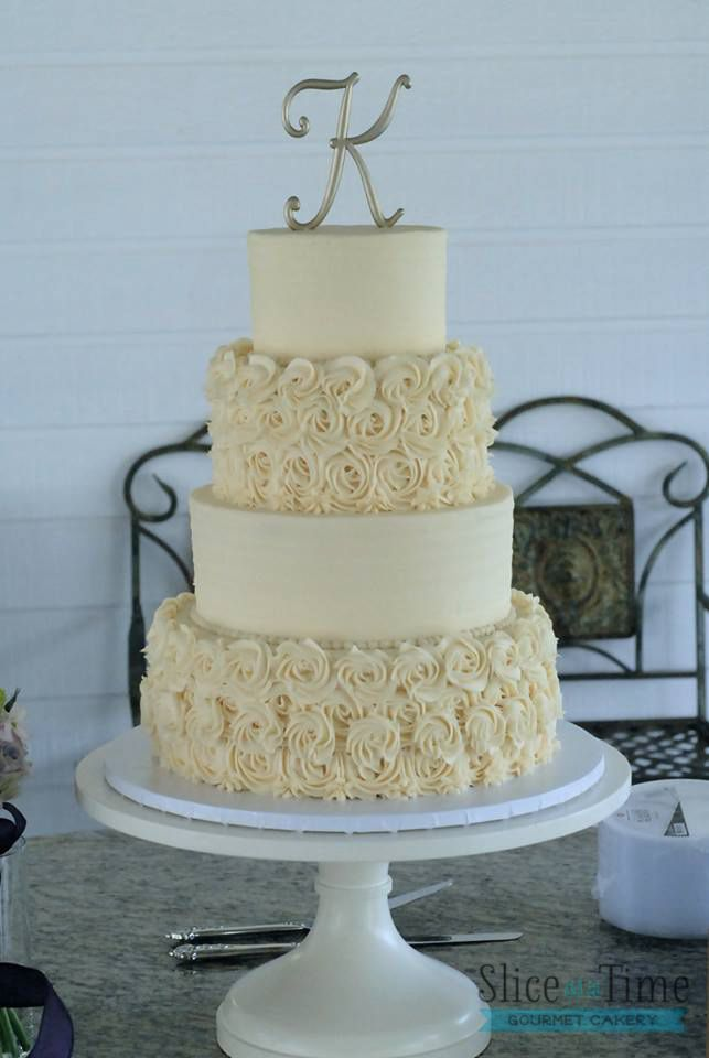Buttercream Square Wedding Cakes                                                                                                                                                     More