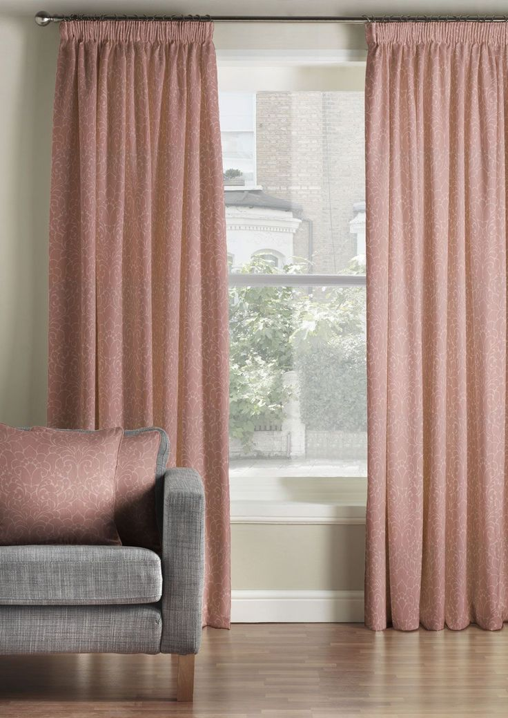 Classique Pink Pencil Pleat, from £58.99. Matching Cushions, £20.49.   Pair these blush pink curtains and matching cushions with a simple Scandinavian decor!