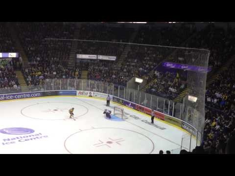 Date: 22nd March 2013, Nottingham Panthers v Cardiff Devils, the game went to penalty shots after a 3 - 3 draw in regulation time and no score in a 5 minute 4 on 4 sudden death overtime. Werner scored the game winner after the teams went through 8 rounds of penalty shots.