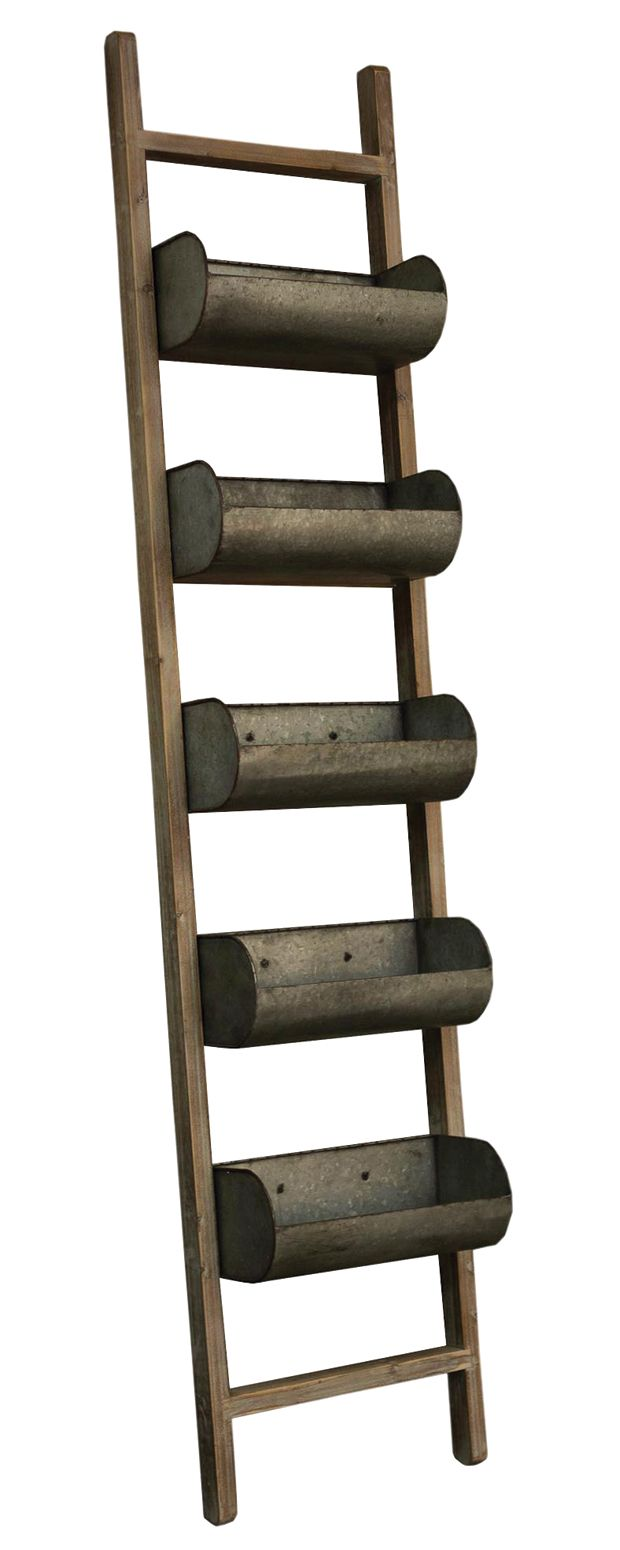 We can't get enough of the farmhouse motif, and this Harlow Slough Ladder with Planter Boxes is one of our favorites. Already modeling the early 20th century aesthetic, this charming wood and metal acc...  Find the Harlow Slough Ladder with Planter Boxes, as seen in the Industrial Outdoor Living Boutique Collection at http://dotandbo.com/collections/industrial-outdoor-living-boutique?utm_source=pinterest