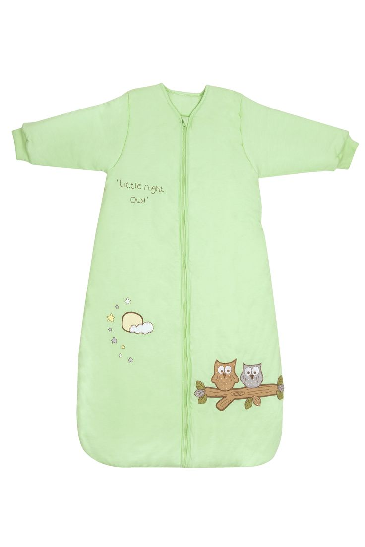 Winter Sleeping Bag With Sleeves Mint Owl