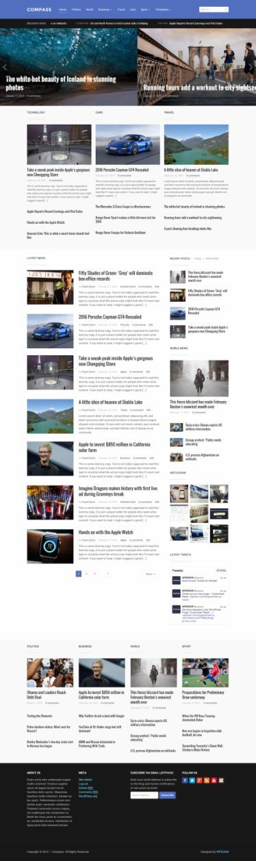 compass wordpress theme wpzoom