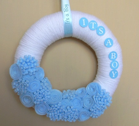 New Baby Boy Wreath(for hospital door!!) Or baby shower or for front door when you come home