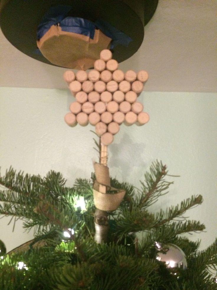 Wine cork Hanukkah tree topper (source: zoe Edwards)