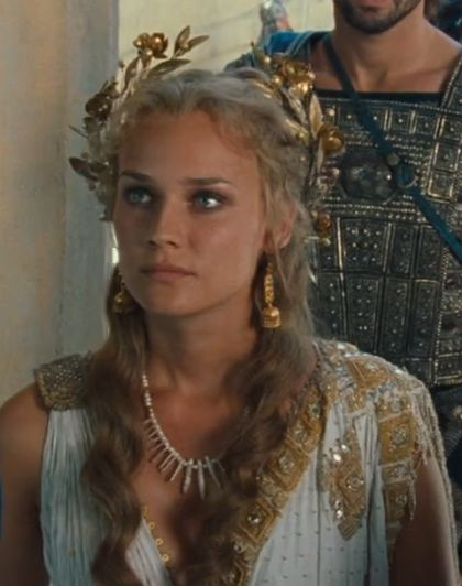 Helen of Troy - Diane Kruger. Love this makeup and hair! Halloween costume?