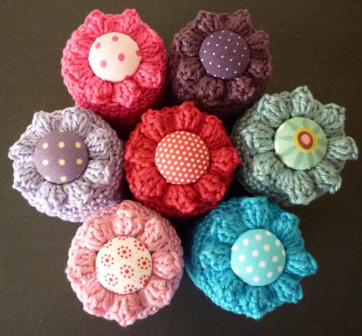 Tops of Crochet Jars