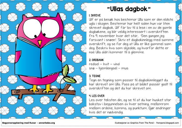 Fortellerkort N2 – Ullas dagbok | Begynneropplæring med Runar