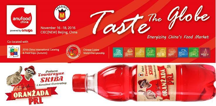 ORANŻADA PRL podbija Chiny i będzie prezentowane na najważniejszych targach importowanej żywności w Północnych Chinach i jednych z najważniejszych targów w tym zakresie w całych Chinach.  ANUFOOD China 2016 16-18 listopada 2016  Hala E3, E4 - stanowisko 27  CIEC (NEW) Beijing, China