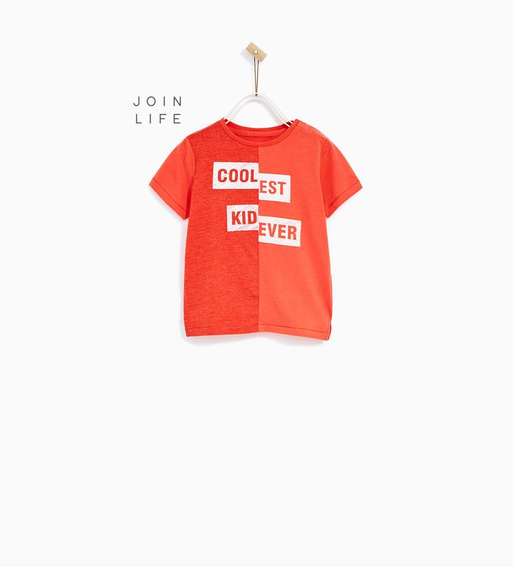 Image 1 of T-SHIRT WITH ENGLISH SLOGAN from Zara
