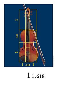 Violin Golden Mean Poster