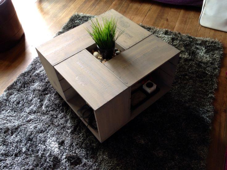 les 11 meilleures images du tableau mini caisse table basse sur pinterest caisses de vin. Black Bedroom Furniture Sets. Home Design Ideas