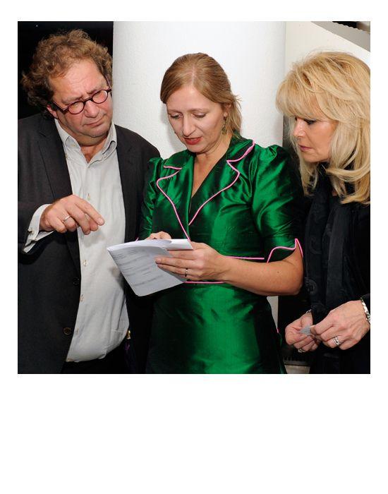 Jacqueline de Jong wears Molly Greenadine | at AKO Literatuurprijs 2012