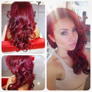 beautiful blood red hair