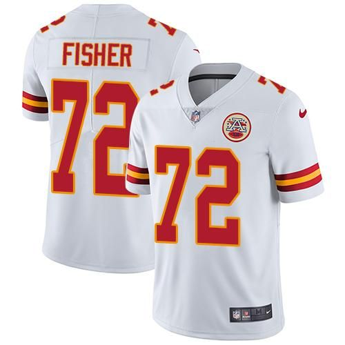 Nike Chiefs #72 Eric Fisher White Men's Stitched NFL Vapor Untouchable Limited Jersey