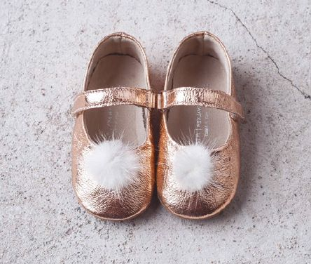 Handcrafted Pompon Copper fur Balarinas FW2016