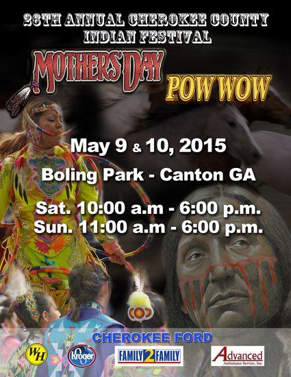 Pow Wow Calendar » » 26th Annual Cherokee County Indian Festival & Mother's Day Powwow