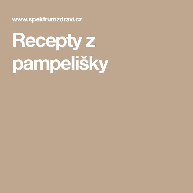 Recepty z pampelišky